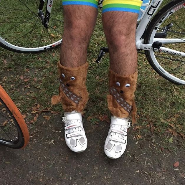 Chewbacca socks for crazy sock day on the Townsville to Cairns Bike Ride  #cycling #tcbr #cci - Chewbacca Socks For Crazy Sock Day On The Townsville To Cairns